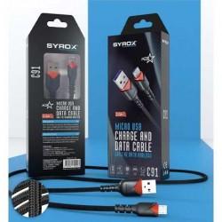 Syrox Micro Usb 2A örgülü Kablo